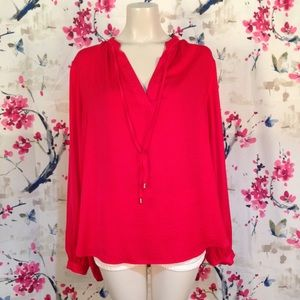 H&M Red Neck Tie Top Size 14
